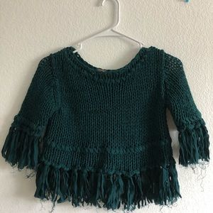 FREE PEOPLE knit cropped sweater